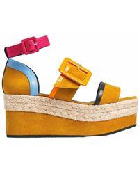 Pierre Hardy Alpha Sun Suede Sandals - Multicolour
