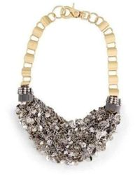BCBGMAXAZRIA Inspired Gold Silver Mesh Necklace - Metallic