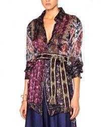 Etro Runway Alina Silk Shirt - Multicolour