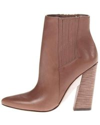 BCBGMAXAZRIA Metild Beige Leather High Heel Bootie - Brown