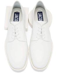 Jacquemus White Clown Derbys Leather Oxford Shoes