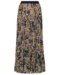 BCBGMAXAZRIA Pleated Floral Maxi Skirt - Multicolour