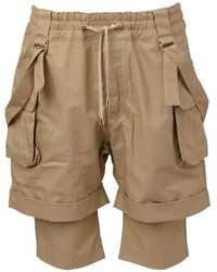 Balmain Layered Cargo Shorts - Gray