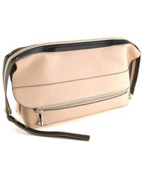 Chloé Angora Beige And Black Dalston Oversized Clutch Bag - Natural