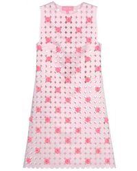 Paskal Light Pink Laser Cut Short Dress