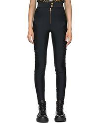 Versace - Black Stretch Leggings - Lyst