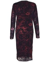 Jean Paul Gaultier Burgundy Optical Illusion Tulle Dress - Red