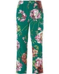 Gucci - Blooms Print Pyjama Silk Trousers - Lyst