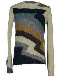 Dries Van Noten - Zigzag Intarsia Magnet Wool Sweater - Lyst