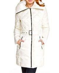 BCBGMAXAZRIA Pearl Down Quilted Jacket 10821bm-092 - White