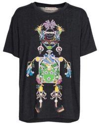 Mary Katrantzou Tikki Man Printed Modal Jersey T-shirt - Black