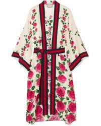 Gucci Rose Garden Print Silk Kimono - Multicolor