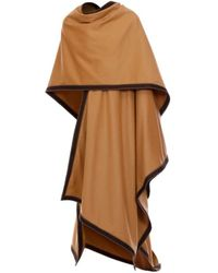 Balmain Wool Draped Poncho - Multicolour