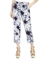 BCBGMAXAZRIA Runway Easy Silk Trouser Trousers - Blue