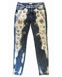 Fausto Puglisi Skinny Metal Embellishment Jeans - Blue