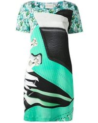 Mary Katrantzou Selofane Print Shirt Dress - Green