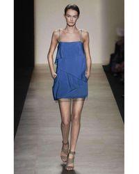 BCBGMAXAZRIA - Bcbg Maxazria Runway Andie Cascading Silk Dress - Lyst