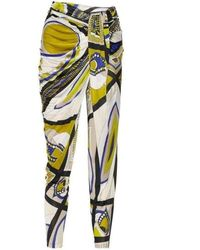 Emilio Pucci Printed Jersey Tapered Pants - Multicolor