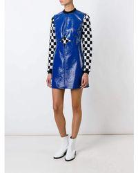 Courreges Cut Out Detail Shift Dress - Blue