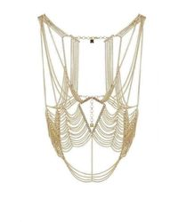 BCBGMAXAZRIA Gold Cutout Body Chain - Metallic