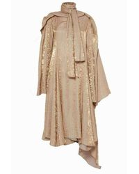 Y. Project Gold Long Sleeve Midi Dress - Multicolour