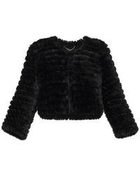 BCBGMAXAZRIA Sophiana Faux Fur Jacket - Black