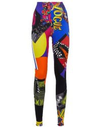 Versace Vogue Ss'91 Print Tribute Tights - Multicolor