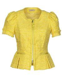 Nina Ricci - Yellow Tweet Cropped Blazer Jacket - Lyst