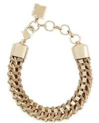 BCBGMAXAZRIA - Box Beige Chain Bracelet - Lyst