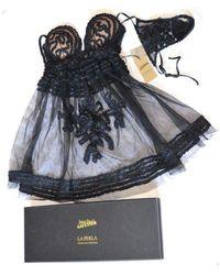 Jean Paul Gaultier La Perla By Black Rubans Babydoll Set