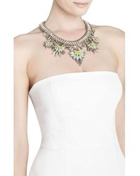 BCBGMAXAZRIA Floral Stone Chain Necklace Jdkje751-c4j - Multicolour