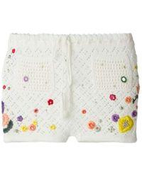 Emilio Pucci - Poppy Rocks Embroidered Crochet Shorts - Lyst