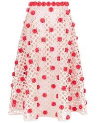 Paskal Blush Pink Laser-cut Skirt