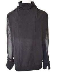 Boris Bidjan Saberi Symbiosism Cotton Sweater With Adjustable Neck - Black
