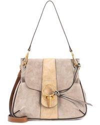 Chloé - Lexa Suede Crossbody Bag - Lyst f4073a321