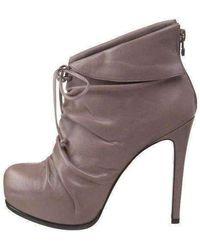 Pour La Victoire Grey Leather 'asas' Ankle Boots - Gray