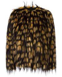 Dries Van Noten Reese Short Faux-fur Jacket - Multicolour