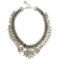 BCBGMAXAZRIA - Woven Leaf Necklace - Lyst