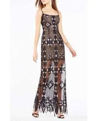 6bf432461a BCBGMAXAZRIA Women's Strapless Velvet Lace And Tulle Dress - Black ...