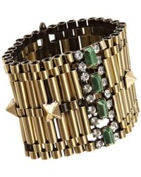 Iosselliani - Gold Crystal Rolex Chain Bracelet - Lyst