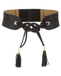 BCBGMAXAZRIA Tie Tassel Black Belt