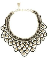 BCBGMAXAZRIA - Metal Spike Bib Necklace - Lyst