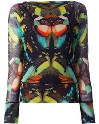 Jean Paul Gaultier Butterfly Print Top - Multicolour