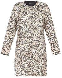 BCBGMAXAZRIA Mickie Ocelot Print Faux-fur Coat Gpq8c750-2q7 - Multicolor
