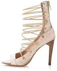 BCBGMAXAZRIA Francis Snake Embossed Shoes - Natural