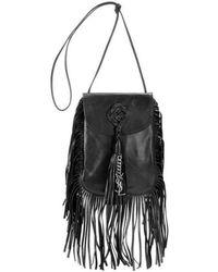 Saint Laurent - Saint Laurent Anita Fringe Leather Shoulder Bag - Lyst