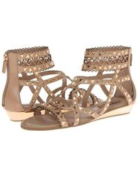 BCBGMAXAZRIA Brianna Beige Gladiator Leather Sandal - Natural