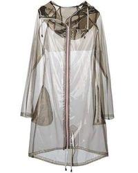 Wanda Nylon Wanda Oversized Trench Coat - Grey