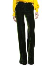 Emilio Pucci Runway Wide Leg Silky Velvet Pants - Multicolor