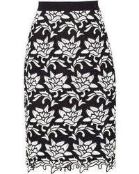BCBGMAXAZRIA - Sascha Floral-hem Pencil Skirt - Lyst